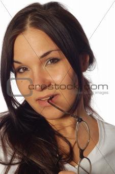 attractive brunette woman
