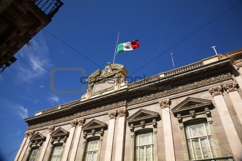 Flag Government Building Guanajuato Mexico