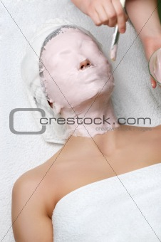 beauty salon series, facial mask