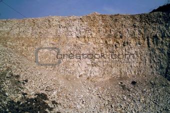 Chalk pit face