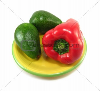 avocados and red pepper