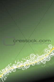 Celebration background in green