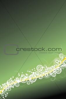 Celebration background in green