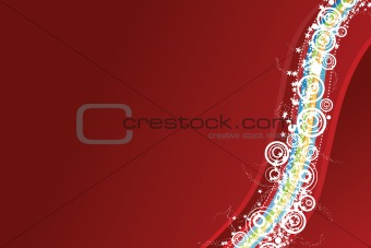 Celebration background in red