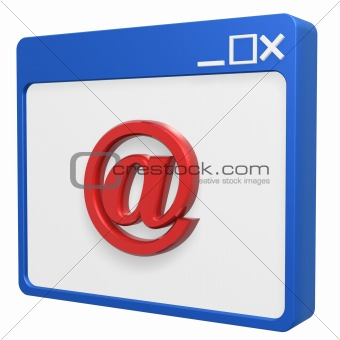 email symbol browser
