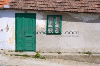 old house in the village - door and facade