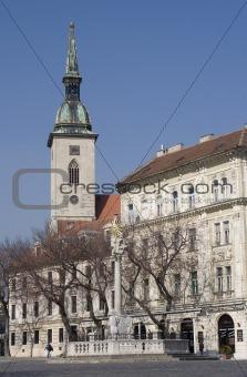 bratislava - cathedral st. martin and square