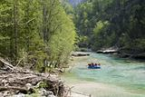 rafting on the river ybs in austria