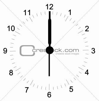 clock face at 6 o'clock