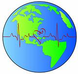 earth with heart rhythm