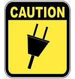 caution due to power surge or electrocution