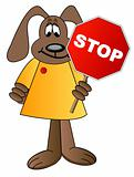 dog cartoon crossing guard