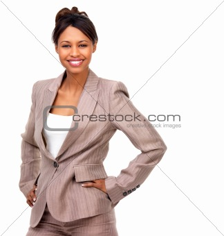 Business Woman with hands on hips
