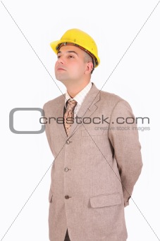 A Businessman looking up