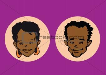 portrait series - african couple