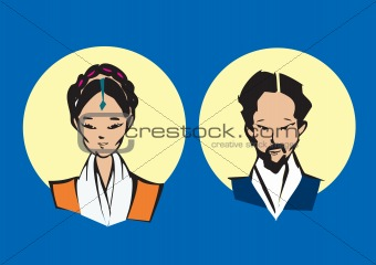 portrait series - tibetan couple