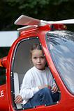 Child in helicopter  (GE)