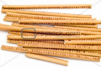 bread straw close up