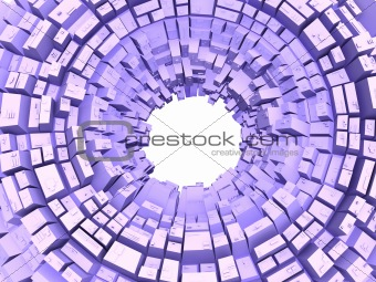 Abstract background of lilac color with geometrical figures