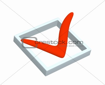 3D red point marked in the list