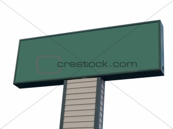 Blank Sign Isolated