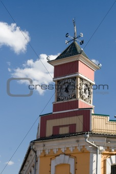Small tower with clocks
