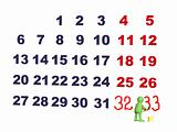 Person - puppet, adding numbers in a calendar  - CONTEST