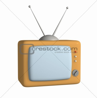 3d stylized model of a retro of the television