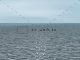 Background - the quiet sea at cloudy weather