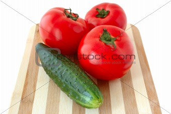 Vegetables on cutting board.
