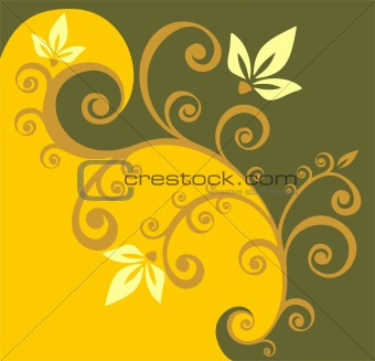 yellow curls background