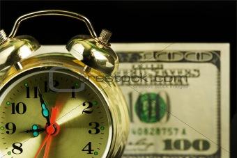 Alarm clock and money 01