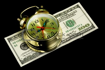 Alarm clock and money 02
