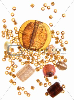 beads in amber