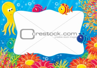 "photo-frame ""Coral Fish and Octopus"""