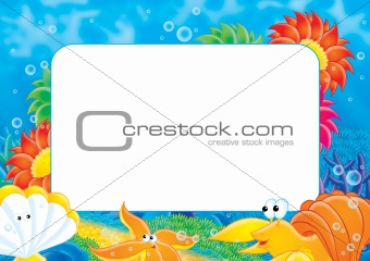 Photo frame Coral reef