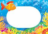 "photo-frame ""Coral fish"""