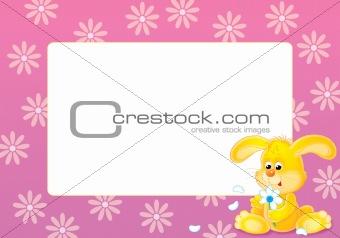 "Photo-frame ""Yellow bunny"""