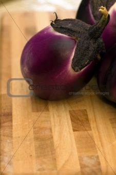 Aubergine and the breadboard