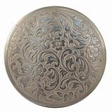 round silver plate