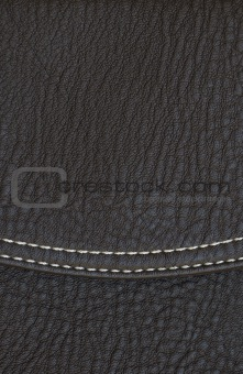 black leather texture with seam