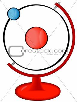 atom molecule in stand