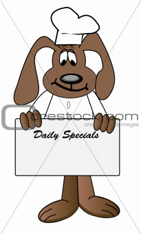 cartoon chef with daily specials