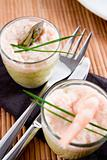 Asparagus and shrimp verrines
