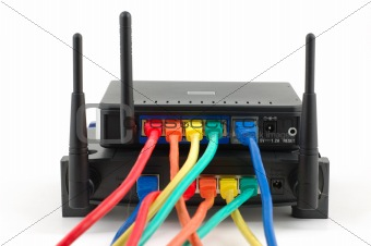 Cables connected routers