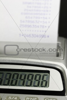 Calculator with paperroll