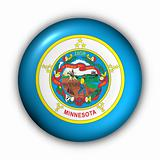 Round Button USA State Flag of Minnesota