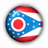 Round Button USA State Flag of Ohio