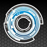 Concentric gear shape icon