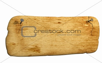 3d old bursted board, attached by nails